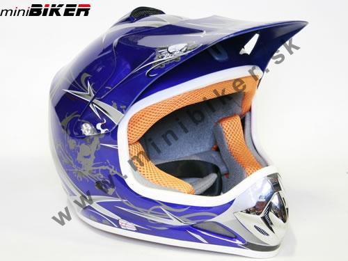 19913faa3b50d Prilby - Nitro prilba na motocykle detská modrá -