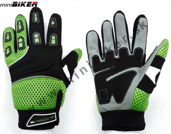 5f1c2bd621a Rukavice - Detské motocyklové rukavice Nitro zelená -