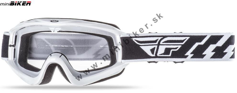 9b2667d22 Okuliare - Motocrosové okuliare Fly Racing Focus biela -